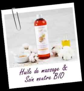 Huile de massage végétale